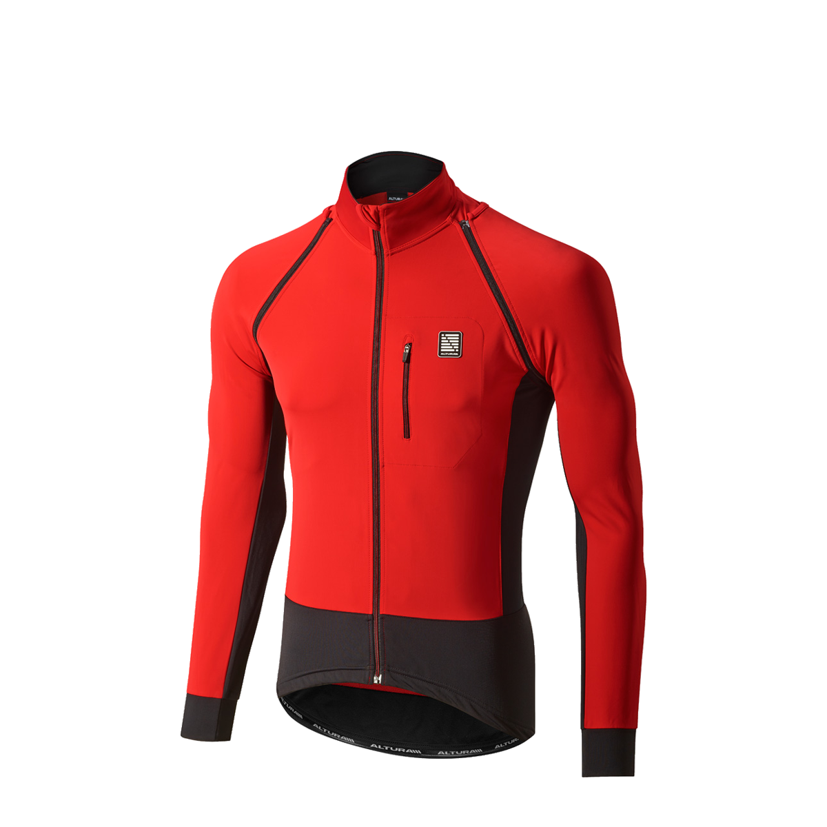 ALTURA PELOTON TRANSFORMER JACKET 2016: TEAM RED/BLACK L