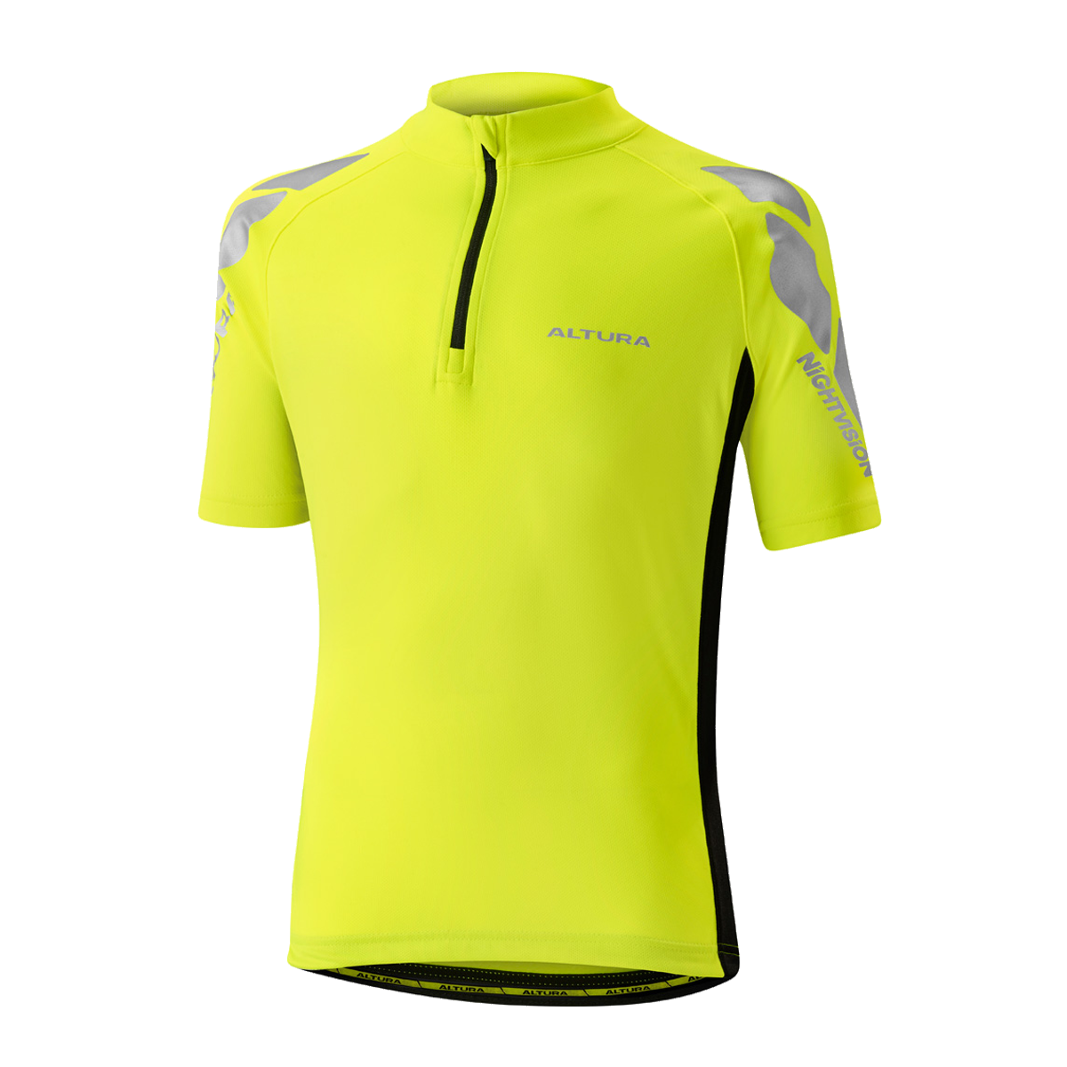 ALTURA YOUTH NIGHTVISION SHORT SLEEVE JERSEY 2016: BLUE/BLACK 10-12YRS