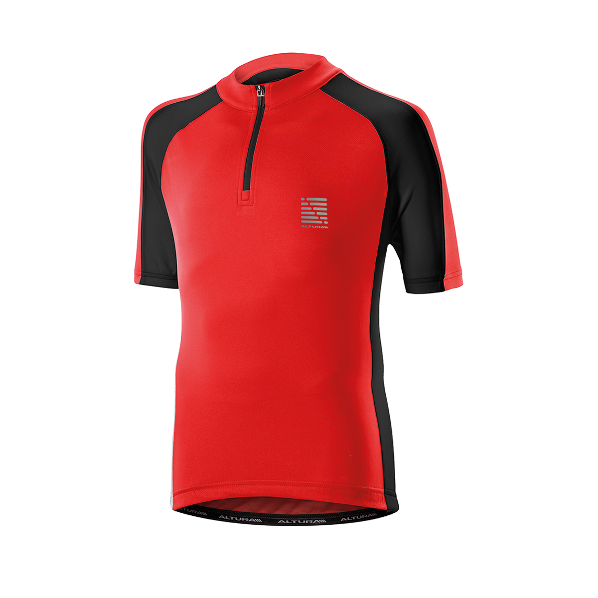 ALTURA CHILDREN'S SPRINT SHORT SLEEVE JERSEY 2016: RED/BLACK 10-12YRS